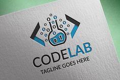 Codelab Logo by tkent on @creativemarket Graphic Design Tips, Logo Design Inspiration, Business Brochure, Business Card Logo, Coding Logo, Logos Ideas, Branding, Creative Sketches, Paint Markers