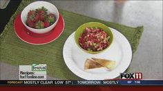 Strawberry Salsa #recipe from WLUK FOX 11 Good Day Wisconsin Cooking with Amy Hanten. #recipes #video