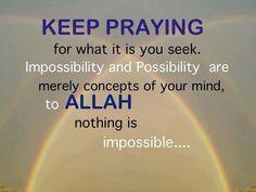 Keep praying. Never lose hope Allah Quotes, Muslim Quotes, Quran Quotes, Hindi Quotes, Qoutes, Life Quotes, Islamic Inspirational Quotes, Islamic Quotes, Inspiring Quotes