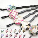 More than ceramics ornamental hairpin hammering out ornamental hairpin /Original Design Creamic Accessories ○ 5,000 yen○