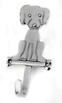 Pewter Hook - Puppy  | Crosby & Taylor Pewter Gifts