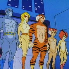 The Thunder Cat's were shown naked in the very first episode on their home world.