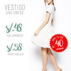 """El """"Girl Dress"""" es un diseño angelical que te dejará bien vestida a donde vayas.  De paso está económico y cuenta con diferentes promociones.  ¡Está lindísimo!  Haz tus pagos con tarjeta Visa o efectivo * Ahora también puedes realizar tus solicitudes por nuestro WHATSAPP 965-271-561"""