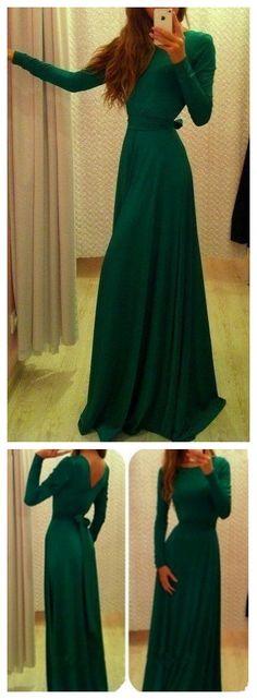 Dark Green Prom Dress,Bodice Prom Dress,Maxi Prom Dress,Fashion