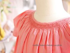 Big girls don't necessarily have to sport deep smocking. Pattern: Pauline de Citronille