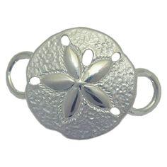Sterling silver sand dollar convertible clasp