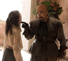 "Syrio Forel would be bald. | What ""Games Of Thrones"" Characters Look Like In The Books. ""A slight man with a bald head and a great beak of a nose stepped out of the shadows, holding a pair of slender wooden swords."" —A Game of Thrones"