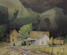 Alfred Joseph Casson Sun After Thunder 1958 Group Of Seven Art, Group Of Seven Paintings, Paintings I Love, Tom Thomson, Emily Carr, Canadian Painters, Canadian Artists, Abstract Landscape, Landscape Paintings