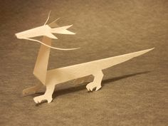Let's make a dragon of KiriOrigami paper craft