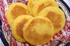 Harcha (also spelled harsha) is a Moroccan pan-fried flatbread made from semolina, butter and milk. It's similar in appearance to an English muffin, but more like cornbread in texture.