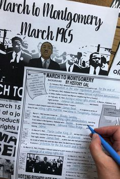 This free PowerPoint and Guided Notes set from History Gal covers the March to Montgomery and is perfect for high school U. Teaching Us History, History Education, Teaching Social Studies, History Teachers, History Class, History Lesson Plans, Secondary Resources, American History Lessons, Class Notes