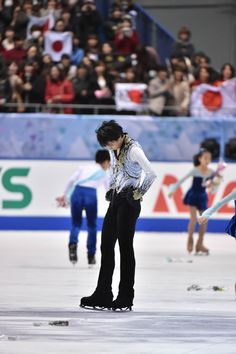 Yuzuru Hanyu of Japan shows his disappointment after the Men Free Skating during day two of ISU Grand Prix of Figure Skating 2014/2015 NHK Trophy at the Namihaya Dome on November 29, 2014 in Osaka, Japan.