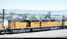 UP 85B Description: UP 85B was built in 6/64 and retired in 10/79. Photo Date: 5/26/1974 Location: Barstow, CA Author: Ron Hawkins Categories: Roster Locomotives: UP 85B(DD35)