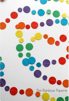 3m Rainbow Circles Paper Garland nursery by TheRainbowPaperie