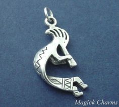 Large Native American Indian Eagle Totem Pole .925 Sterling Silver Charm Pendant