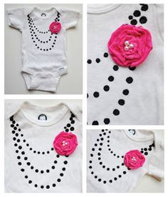 DIY Onesie? Love it. Think I'll make one for Emaleigh to wear during Christopher and Rachel's rehearsal -Tara