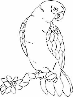 Vogel Floral Embroidery Patterns, Paper Embroidery, Beaded Embroidery, Mandala Painting, Dot Painting, Push Pin Art, Rhinestone Art, String Art Patterns, Bird Drawings