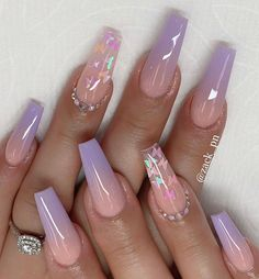 Acrylic Nails Coffin Pink, Summer Acrylic Nails, Coffin Nails, Frensh Nails, Swag Nails, Glitter Nails, Cute Acrylic Nail Designs, Ombre Nail Designs, Uñas Color Cafe