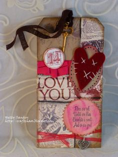 *{CraftChaos}*: Tim Holtz Febuary tag: Valentine by Hetty Sanders