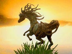 'Pferdeskulptur auf Yucatan, Mexiko' von Dirk h. Wendt bei artflakes.com als Poster oder Kunstdruck $22.17