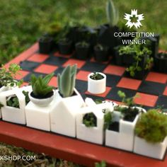 Download Micro Planter Chess Set by XYZ Workshop - MyMiniFactory.com
