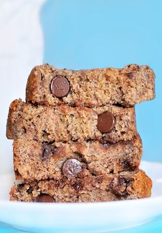 With over 16,000 repins, this is the BEST banana bread recipe I have ever made (and I've made a lot of banana bread recipes over the years). And it just so happens to be fat-free!  http://chocolatecoveredkatie.com/2011/11/02/polka-dot-banana-bread/