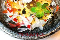 A school of Koi resin painting,resin artwork,xmas gift,golden koi fish painting,resin painting, Valentine's Day gift