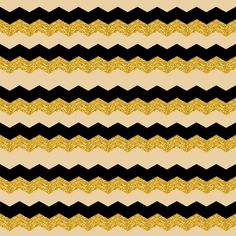 NUDE BLACK & GOLD CHEVRON Art Print