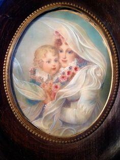 Miniature Portrait Of MARIE-LOUISE AND L'AIGLON