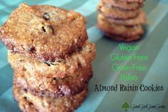 Almond Raisin Cookies - Good Girl Gone Green