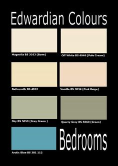 edwardian interior colour schemes | Edwardian bedrooms recreated in contemporary interior design colours ...