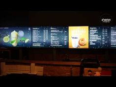 DROPTOP Smart Menu Board - YouTube
