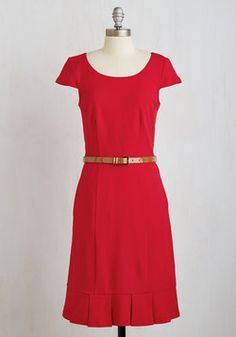 My Byline of Work Dress in Red. Show off your professional prowess in this red sheath dress. #red #modcloth