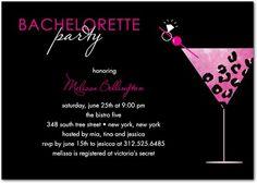 Rock On Rocks Signature White Bachelorette Party Invitations Fuchsia