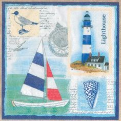 Admiral's Cup Lunch Napkins - Nautical - Party Themes PlatesAndNapkins.com