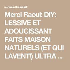 Merci Raoul: DIY: LESSIVE ET ADOUCISSANT FAITS MAISON NATURELS (ET QUI LAVENT!) ULTRA FACILES À FAIRE!