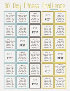 30 Day Fitness Challenge - Start with me on April 1st! :)