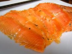 DIY LOX. (Cured SALMON). 2# salmon fillet, no skin. ¼ C kosher salt. ¼ C white sugar. 1-2 bunch fresh dill. 2 tsps cracked black pepper. Rub salmon fillet w/salt & sugar, then sprinkle w/pepper. Place half the dill in glass pan big enough to hold the salmon flat (it can be cut into pieces to fit), lay the salmon on the dill. Cover w/ rest of dill & plastic wrap. Compress. Store in fridge 2 days, drain water once. After 3rd day, wash off sugar & salt. Slice thin & enjoy!