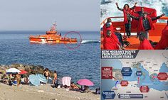 Last week, 1,025 migrants arrived illegally on the Andalusia coast where thousands of Brits go on holiday. Every day, more come on what is now the fastest-growing sea route from Africa to Europe.