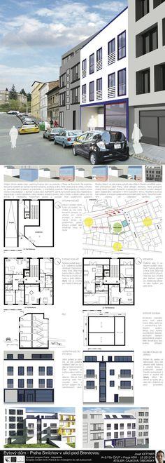 Studentský projekt. LS 2013/2014. FSv ČVUT v Praze. Praha, Shipping Container Homes, Floor Plans, Mobile Home, Container Homes, Floor Plan Drawing, Container Houses, House Floor Plans