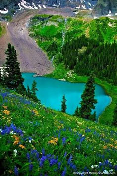 Blue Lake, San Juan Mountains near Telluride, Colorado, USA