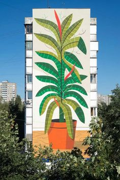 "Fintan Magee and Agostino Iacurci ""Water Please"" for Mural Social Club Festival in Kiev : Brooklyn Street Art Murals Street Art, Street Art Graffiti, Mural Painting, Mural Art, Tag Art, Banksy, Urbane Kunst, Arte Pop, Street Artists"