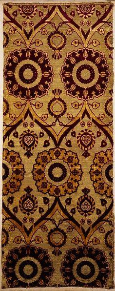 "Turkey, ca. 1550-1599  ""Ottoman silk velvets made in the 16th century often have…"