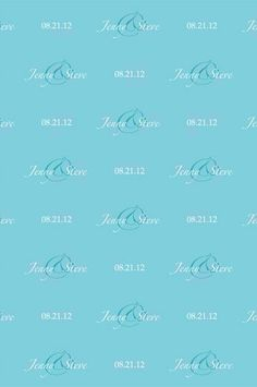 C0018 Custom Wedding Step and Repeat Backdrop Tiffany Blue Background