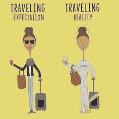 For my tips on how to look like the lady on the left - click the link in my bio! Thanks to @goglowbus for the cartoon!  #travel #travelling #wanderlust #blog #photoblogger #blogger #photography #photograph #photographer #travelphotographer #travelblog #fun #inspo #inspiration #happydays #love