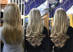 Before & After Easilocks hair extensions by VoodouRoisin  voodou.co.uk  #hairgoals Easilocks Hair Extensions, Hair Goals, Hairdresser, Liverpool, Salons, Curls, Long Hair Styles, Instagram Posts, Beauty