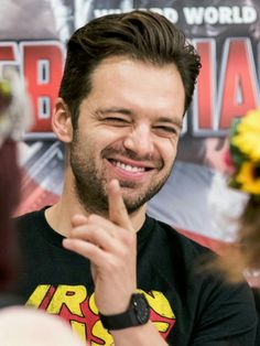 "one-of-the-boys: "" ""Sebastian Stan at Wizard World Comic Con in Tulsa 2016 ♡"" """