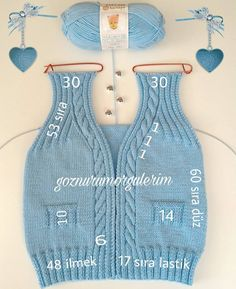 Knitting Boy's Vest Development Knitwear for many years has lengthy been trendy. Knitwear is kind of various. Baby Knitting Patterns, Sewing Stitches, Crochet Stitches Patterns, Knitting For Kids, Crochet For Kids, Crochet Baby, Knit Crochet, Baby Cardigan, Baby Sweaters
