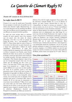 Gazette - 2014-2015 - Fédérale 2 - N° 160 - Page 1