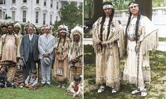 These amazing photographs of Native Americans in Washington meeting US President Calvin Coolidge after they were granted citizenship following the 1924 Indian Citizenship Act.